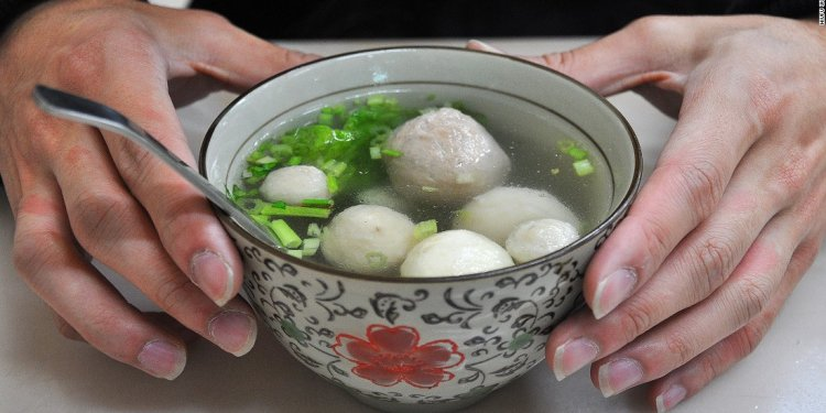 Balls of fresh seafood