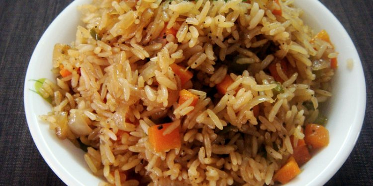 Carrot Pepper Rice - Microwave Recipe