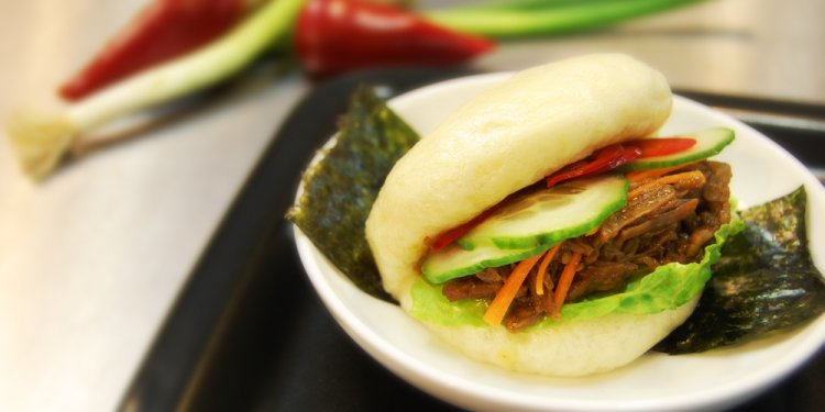 Chinese BBQ pork steamed buns