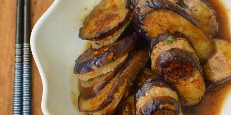Chinese Stuffed Eggplant 煎釀