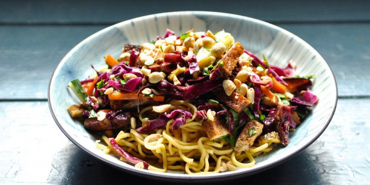 Asian Noodle Salad with Baked