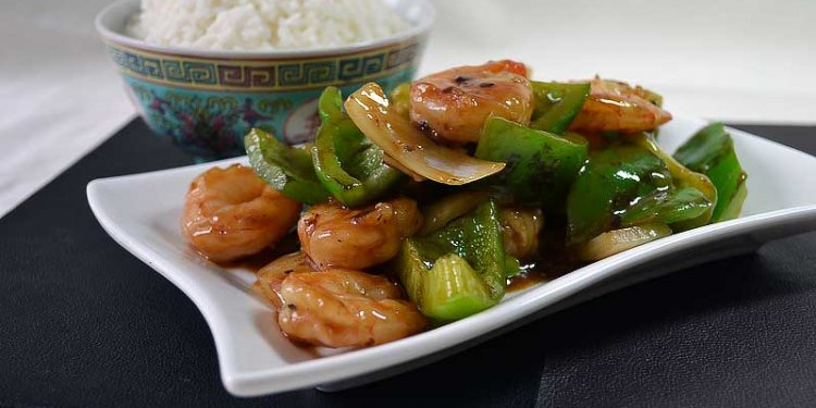 King Prawn and Green Pepper with Black Bean Sauce brought to you by Chinese Recipes for All.com