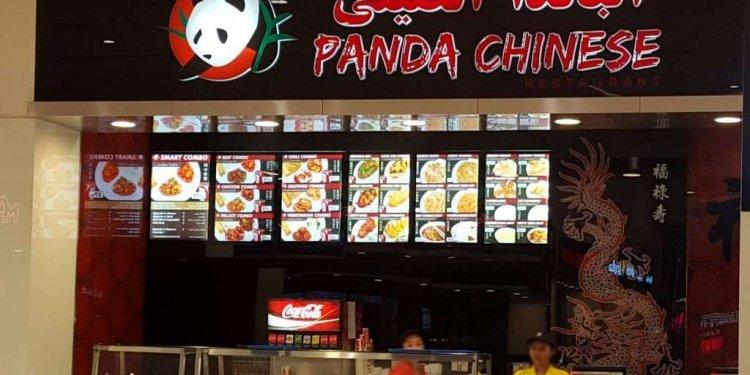 Panda Chinese Menu Dubai