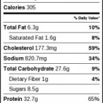 baked general tso nutrition facts