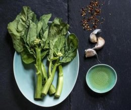 Chinese broccoli with garlic.