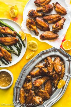 Chinese Lemon Chicken Wings - Create super crispy chicken in the oven in the shortest time, then serve the wings with the most scrumptious lemon sauce.