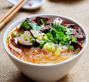 Duck Blood Vermicelli Soup
