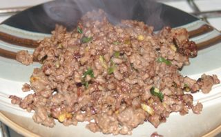 How to stir fry beef mince with celery Chinese recipe