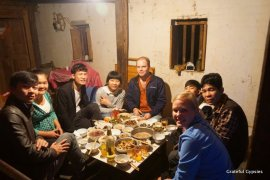 New Year's Dinner in the village.