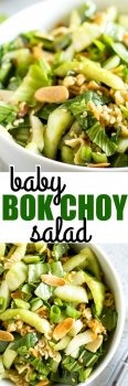 People who have never even HEARD of bok choy go wild for this salad! It's one of my most popular recipes at potlucks and literally tastes like Chinese takeout in salad form.