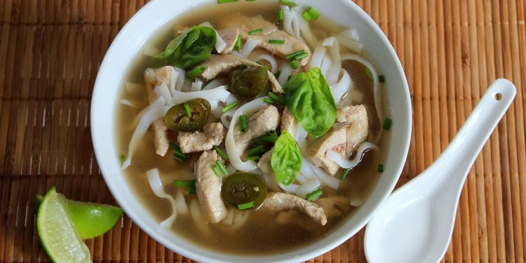 Spicy Chinese Chicken Noodle soup recipe