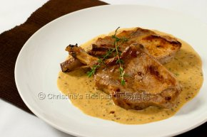 Pork Cutlets with Creamy Mustard Sauce02