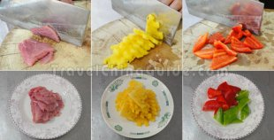 Preparation for Sweet and Sour Pork with Pineapple