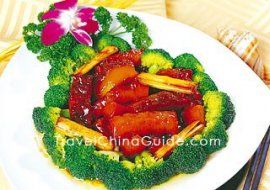 Saute Sea Cucumber with Scallions, Shandong Cuisine