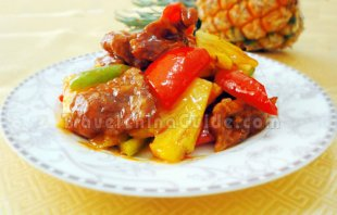 Sweet and Sour Pork with Pineapple Completed