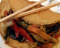 Chinese dish with pancakes