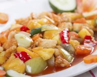 Sweet and Sour Chicken in Chinese